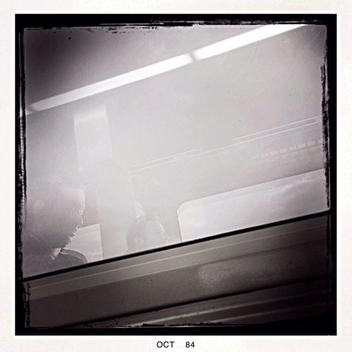 Train reflection Enjoying Life People EyeEm Best Shots - Black + White