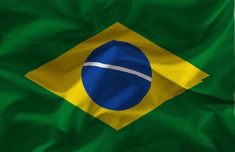 Full frame shot of brazilian flag