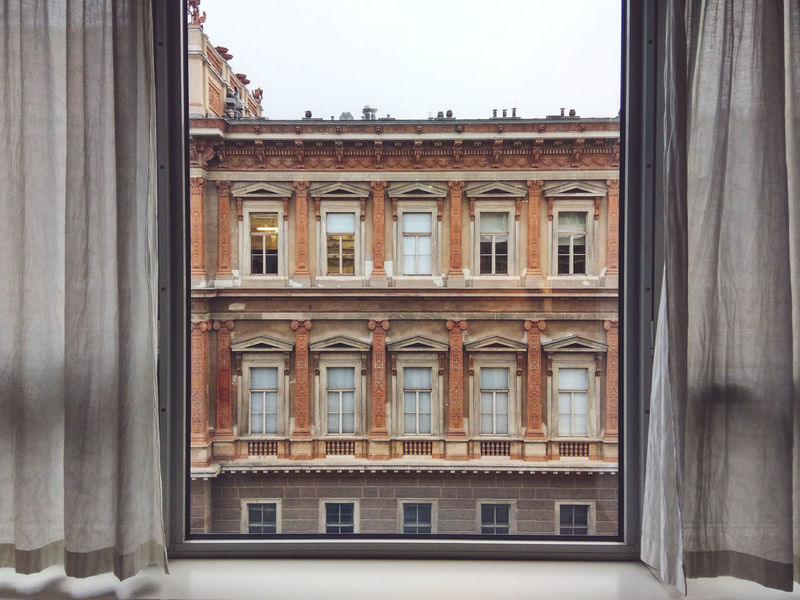 View of Vienna Academy of Fine Arts From Inside House. Academy Academy Of Fine Arts Architecture Austria Building Building Exterior Built Structure City Day Façade No People Outdoors Vienna Vienna_city Window