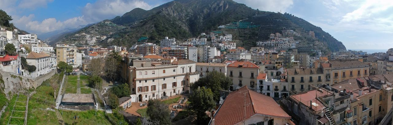 Amalfi Coast Mountain Peak TOWNSCAPE House Crowded Mountain Range Outdoors Cityscape Crowd Community Day Town Nature Cloud - Sky Sky Residential District Mountain City Building Built Structure Architecture Building Exterior Path Of Lemons