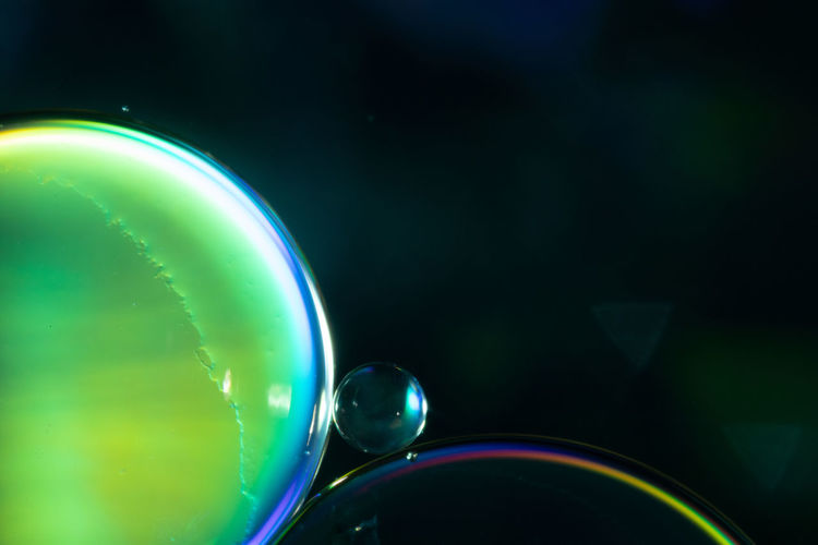 Extreme close-up of bubbles