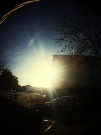 Fisheye Sun Casadamusica Cityscape