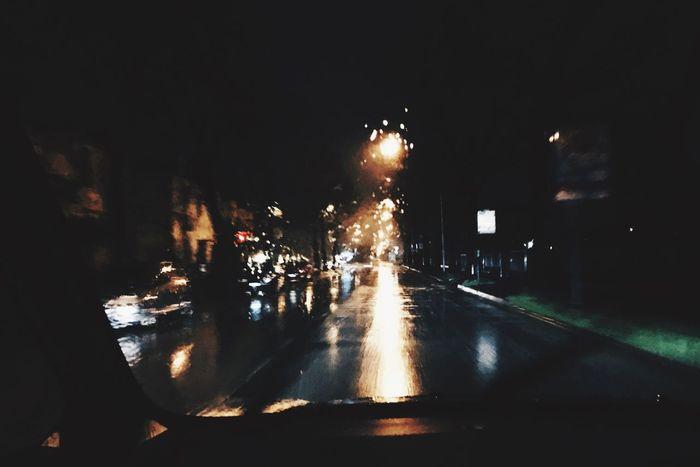 Rain Rainy Days Night Night Lights Picoftheday Like Likeforlike Car Returning Home Goodnight Happy Love