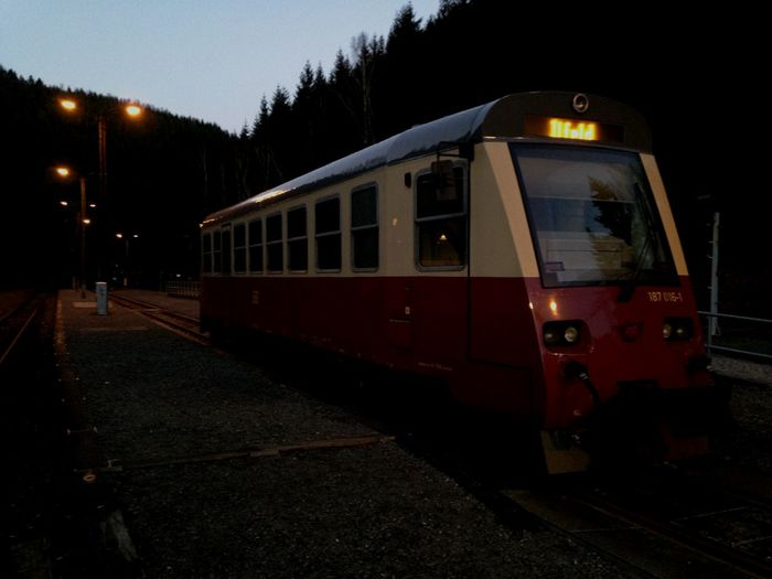 Train Station Railbus Train Harz