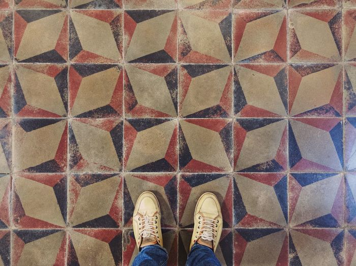 Medieval crosses ✝️... Colorful Church Interior Church Cross Floor View From Above Background Texture ShotOnIphone Pattern Design Pattern Pattern, Texture, Shape And Form Feetselfie Historical Place Geometry Pattern Geometry Architecture Tiles Textures Tiles One Person Body Part Personal Perspective Indoors  Flooring Directly Above Tiled Floor Design Repetition Human Foot Multi Colored Tile