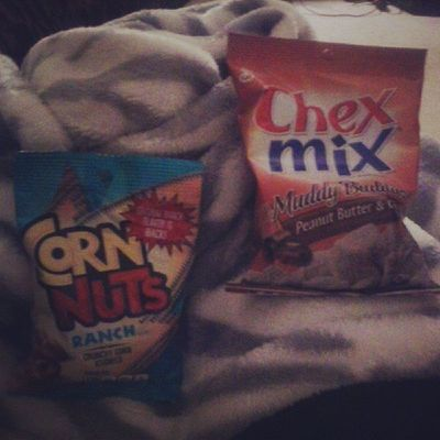 Being sick has its benefits. Cornnuts Chexmix Muddybuddies Sick cold imtired feellikedying