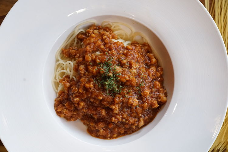 spagetti bolognese Bowl Close-up Food Food And Drink Pasta Plate Ready-to-eat Spagetti