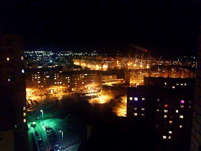 Building Exterior Night Illuminated City Architecture Cityscape Built Structure