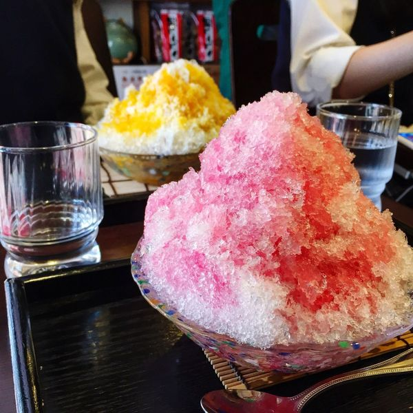 First Eyeem Photo かき氷 Strawberry Shaved Ice 谷中銀座 Yanaka Ginza Street