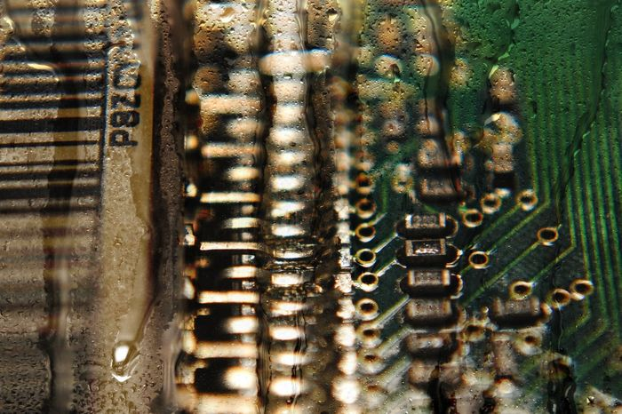 The Color Of Technology Technology Tech Hardware Computer Computer Equipment Hard Disk Science And Technology Close-up Macro Macro_collection Electronics  Electronic Board Computer Science Information Eye4photography  EyeEm Masterclass Connection Abstract Technology Everywhere Art Full Frame Water Droplets Droplets Fine Art Photography
