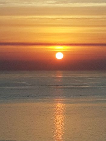 Sunset Sun Beauty In Nature Sea Beach Orange Color Scenics