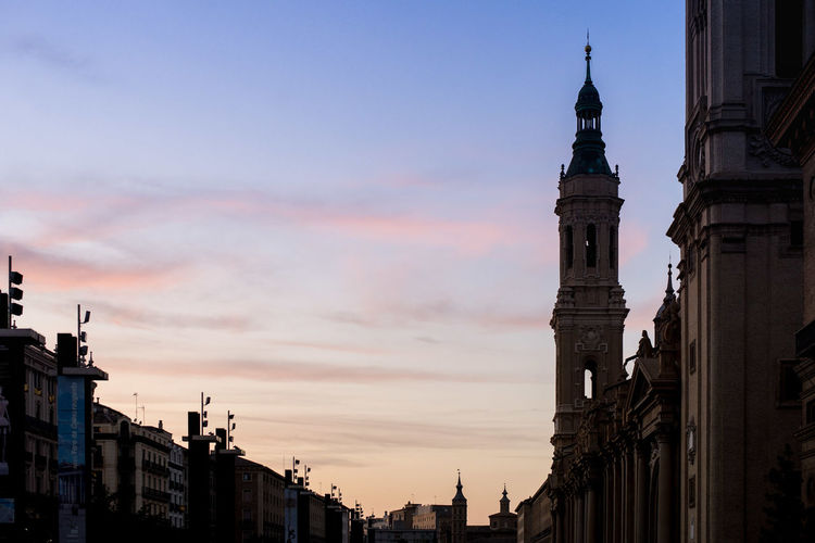 Home El Pilar De Zaragoza Architecture Building Exterior Built Structure City Day Dome History Low Angle View No People Outdoors Place Of Worship Religion Sky Spirituality Sunset Travel Destinations