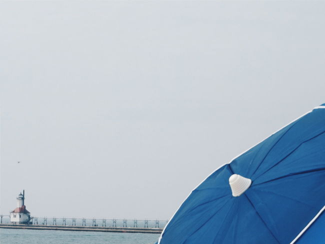 Umbrella Silver Lake Mi St. Joseph, Michigan Light House Umbrella And Sky Beach Photography Eyeemphoto Color Palette