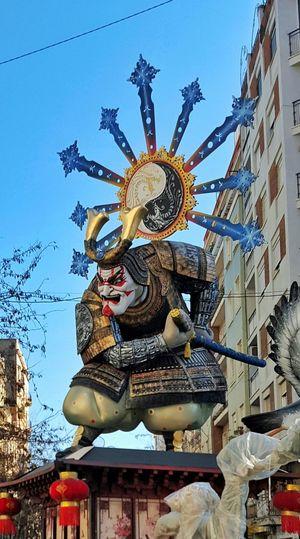 Falla Fallas 2016 España SPAIN Valencia, Spain Samurai SAMURAI!  Samurai Japan