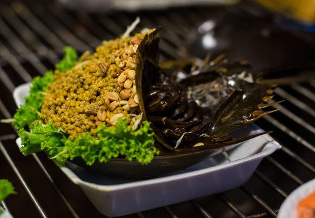 Horseshoe Crab Horseshoe Crabs Seafood Spicy Food Street Food Worldwide Thailand Eggs Food Food And Drink Market Food Plate Street Food Thai Food