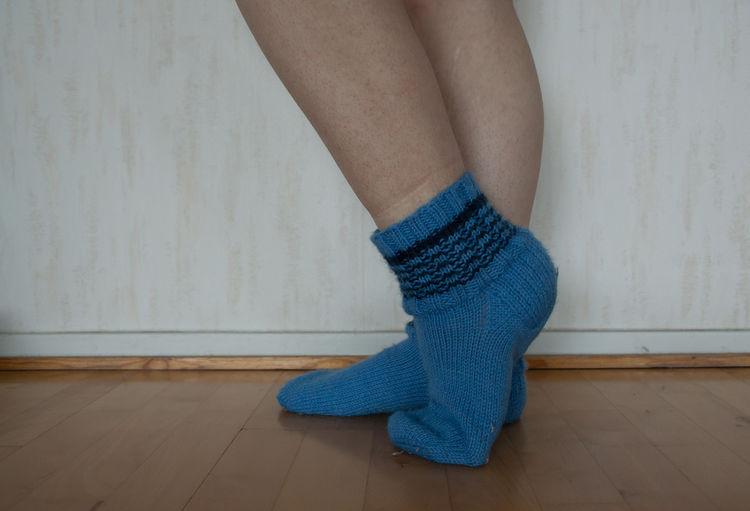 Woolen stockings keep my feet warm. Adult Close-up Day Domestic Life Human Body Part Human Leg Indoors  Leg Limb One Person One Woman Only People Socks TK Maxx Socksie Woolen Socks Villasukat Yllesockor