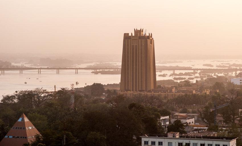Skyline of bamako, mali