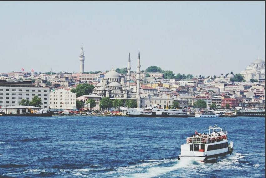 One and only Istanbul Istanbul Turkey My Favourite City Seaside Bosphorus, Istanbul Transportation Building Exterior Water Sky Cityscape Outdoors Sea Architecture Sunny Day Beautiful Place Inlove<3