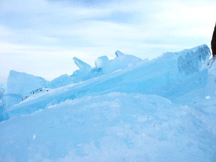 Taking Photos Ice Baikal Winter