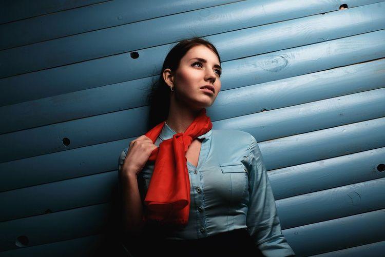Girl Photostudio Portrait Color Portrait Studio DmitryBarykin