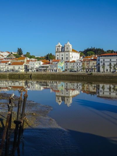 Santiago Church - Alcácer do Sal - Portugal Church Cityscape Reflexo  Rio Sado River Portugal Travel Water Reflections Alcacer Do Sal Alentejo Architecture Blue Clear Sky Day Igreja Nature No People Reflection Reflexions River Riviere Sado Santiago Sky Water
