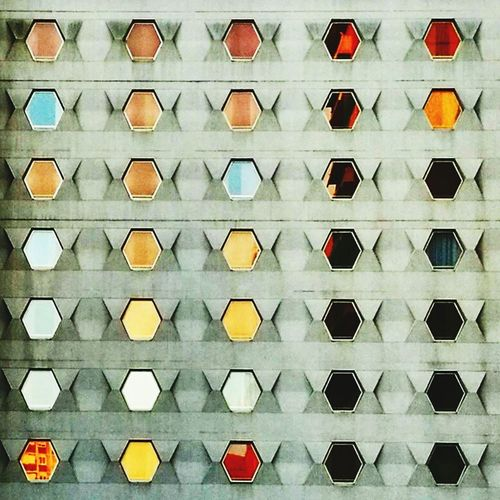 Sunset Wall Windows Hotel Meriadeck Bordeaux Architectural Detail Geometric Shape Reflection Light Architecture Wall - Building Feature France Building Exterior Hexagonal Hexagons EyeEm Best Shots EyeEm Gallery
