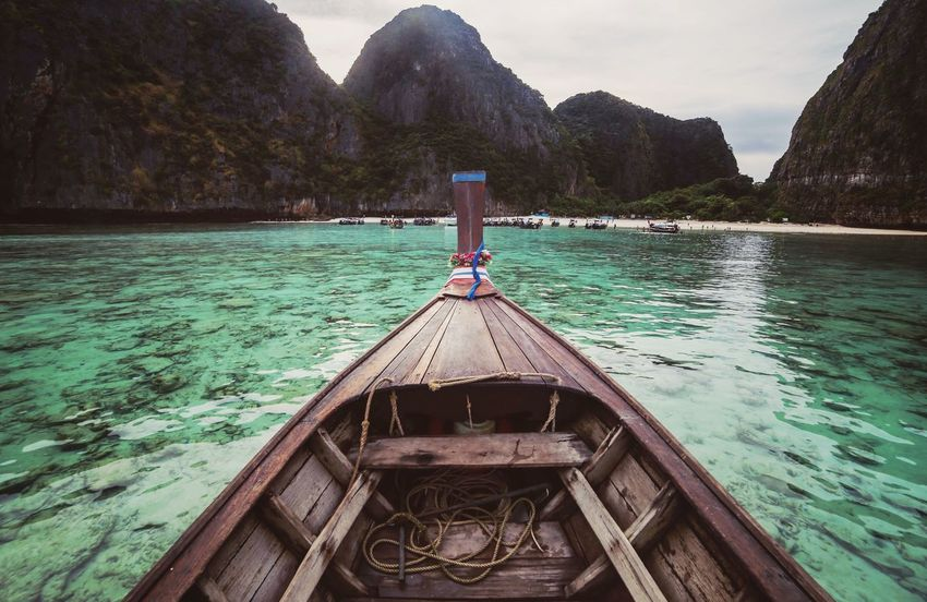 Thailand Maya Bay Island Boat Fairy Travel Trip Water Outdoors Canon