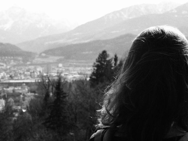 B/w Mountain Nature Outdoors People Real People Rear View Women Mix Yourself A Good Time Black And White Friday