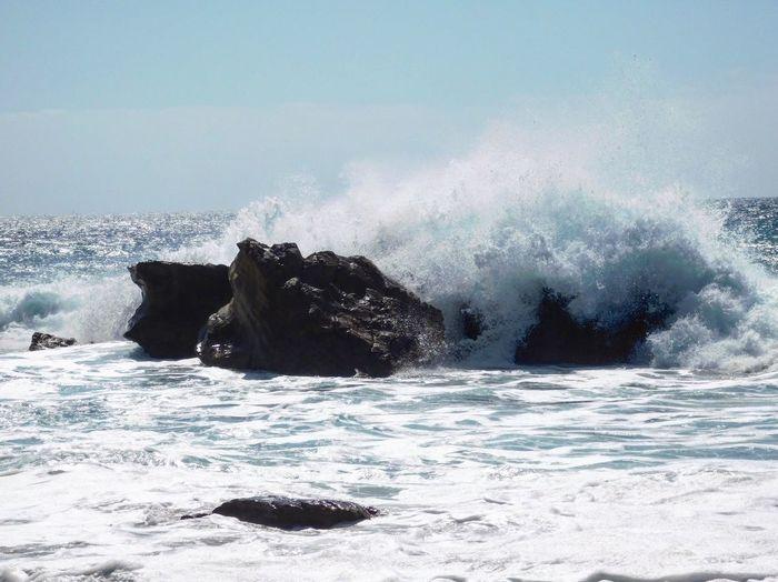 Angry sea....