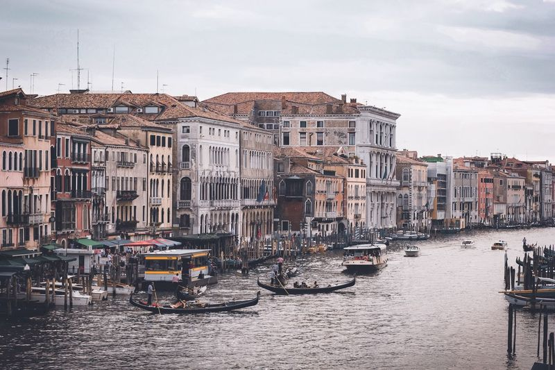 From Venice with love Canal Transportation Cultures Building Exterior Architecture Travel Destinations Travel Nautical Vessel Gondola - Traditional Boat Tourism Mode Of Transport City Tourist Built Structure Sky Water Large Group Of People Gondolier Vacations Outdoors