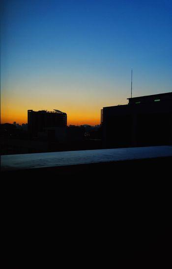 Sunrise Building Exterior Sun Sunrise Silhouette Clear Sky Sky No People Blue City Cityscape