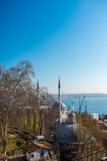 The view over Tophane-i Amire in Istanbul Architecture Beyoglu-ıstanbul Beyoğlu Bosphorus Building Exterior Camii City Clear Sky Europe Ferris Wheel Islam Istanbul Moschee Mosque No People Ottoman Empire Sea Sky Tophane-i Amire Travel Travel Destinations Turkey Türkei Türkiye Water