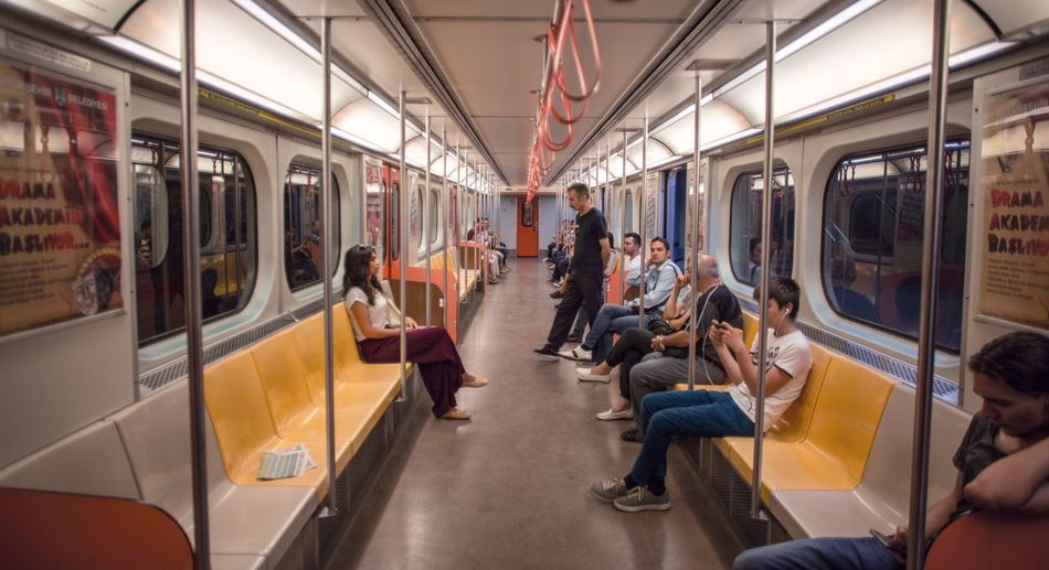 Subway Train Transportation Public Transportation Mode Of Transport Travel Train - Vehicle Commuter Passenger Rail Transportation Journey Large Group Of People Women Vehicle Seat Passenger Train Adults Only People Indoors  Men Adult Commuter Train Ankara Türkiye Railroad Station Indoors  Ankara/turkey Mark3