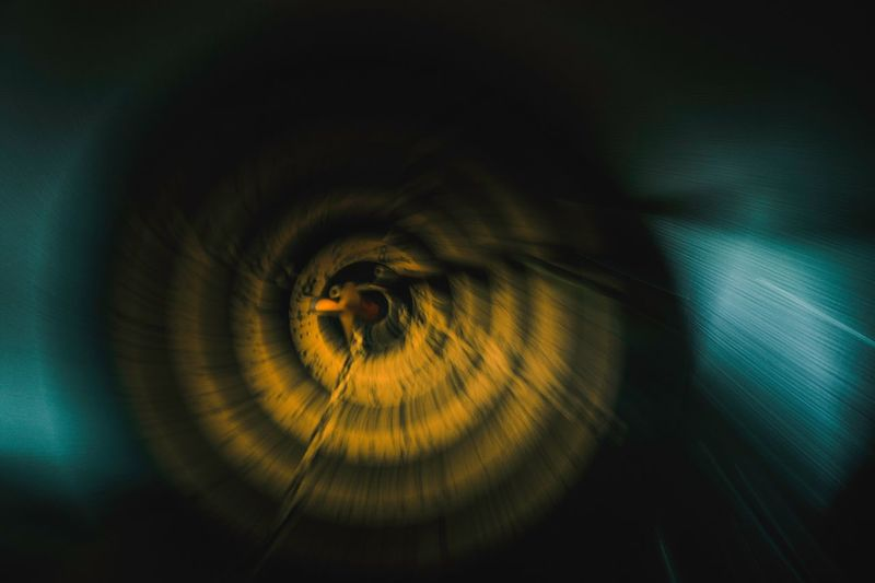 Blurred motion of dartboard