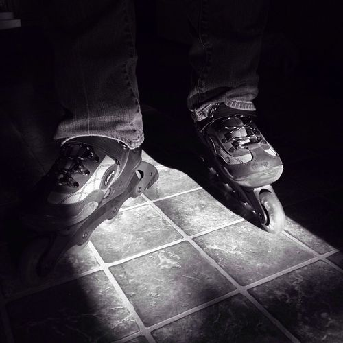 Rollerblades Blackandwhite IPhoneography Iphoneonly