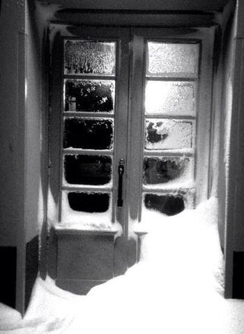 Abandoned Snow House Black & White
