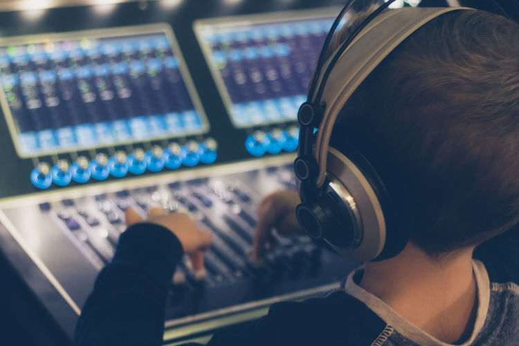 Headphones Audio Audio Equipment AudioEngineer Dj Editing Learning Music Sound Sound Mixing Switch Adjusting Boy Broadcasting Child Childhood Control Panel Kid Mixing Console Music Studio  Producer Radio Station Recording Studio Sound Mixer Technology Volume Knob Club Dj Radio DJ Sound Recording Equipment