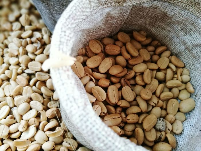 Healthy Eating Bean Sack Freshness Food And Drink Large Group Of Objects Food Indoors  Close-up Market Chick-pea No People Grain Day Coffee Beans Coffeeshop Coffee Bean Arabic Coffee Espresso Maker