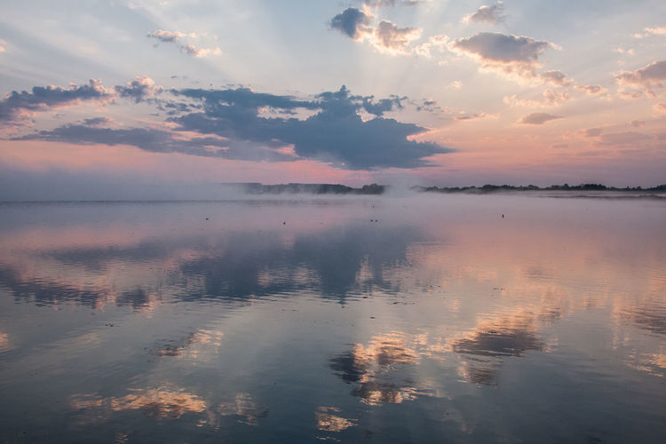 Federsee Beauty In Nature Cloud - Sky Day Idyllic Lake Nature No People Outdoors Reflection Scenics Sky Sunset Tranquil Scene Tranquility Water Waterfront