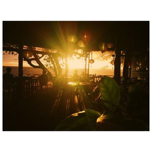 bikini restaurant @relax bay resort Food Travel Sunrise Sunset Silhouette Sky