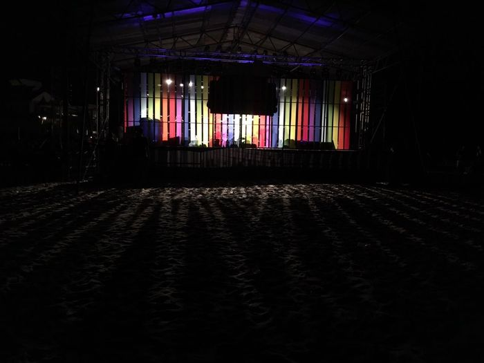 Lights and shadow is to eyes, like music is to ears ..... Music Brings Us Together Musicfestival Covelongpoint Light And Shadow Backstage Music Lights Beach Night