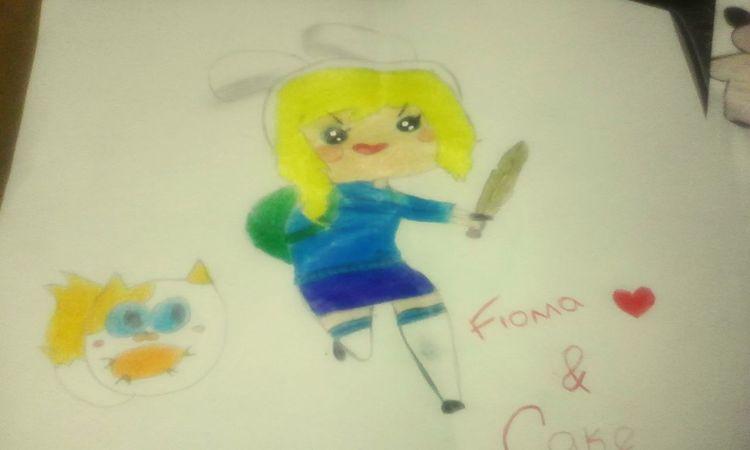 Otra otra deformidad Adventure Time Fionna <3 Cat Cake
