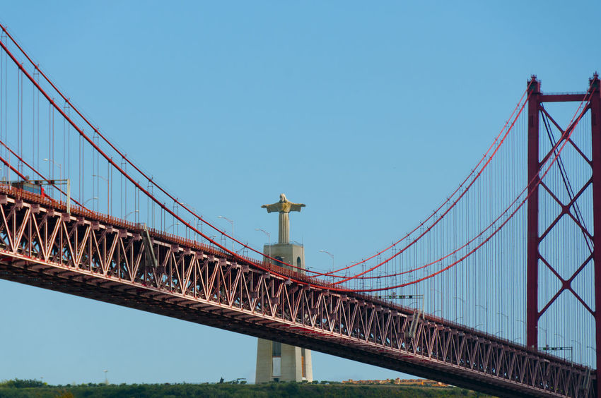 Christ the King & 25 de Abril Bridge 25 De Abril Lisbon - Portugal Statue Bridge Christ The King
