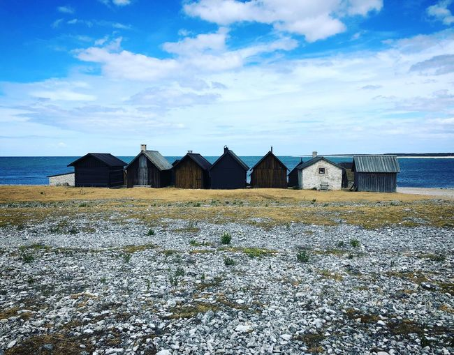 Summer Sweden Fishing Village Sea Sky Water Beach Land Cloud - Sky Horizon Over Water Nature Scenics - Nature Horizon Day Architecture No People Outdoors