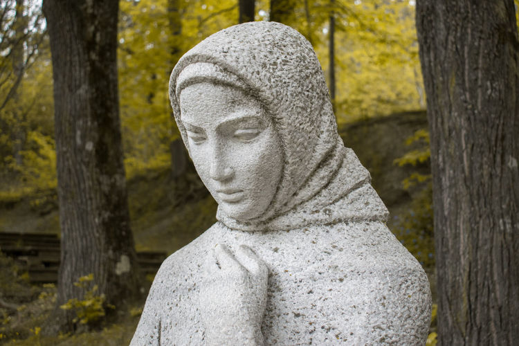 Close-Up Of Statue In Cemetery