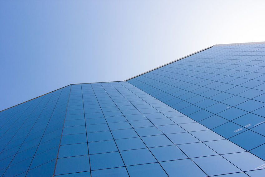 Lines and curves Architecture Blue Building Exterior Built Structure City Clear Sky Day Julhofragaphotography Lines Low Angle View Modern No People Outdoors Sky
