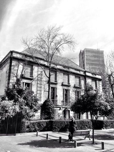 Santiago De Chile Architecture_bw Streetphoto_bw Monochrome