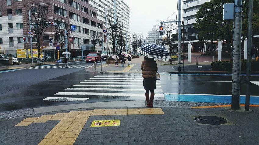 Hanging Out Rainy Days Tokyo,Japan Tokyo Street Photography Umbrella Alone In The City  Crossroad Walking Around Enjoying Life Street The Way Forward Wet Japanese Life Mood Rainy Days☔