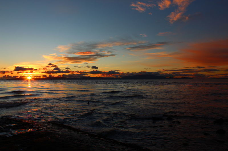 Sunset over the Ayrshire coast. Sunset Sea Reflection Beach Water Outdoors Beauty In Nature Scenics Dramatic Sky Sky Landscape Cloud - Sky Wave Scotland 💕 Coastline Cloudscape Ocean Shore