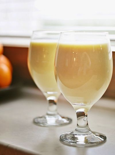MangoLassi Drinking Glass Smoothie Ready-to-eat Food And Drink Morning